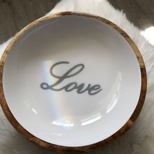 White Love Bowl
