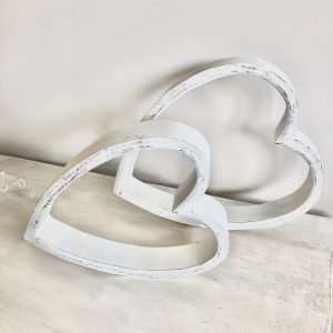 White Sleeping Hearts (Set of 2)