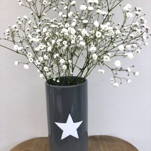 Grey & White Star Vase