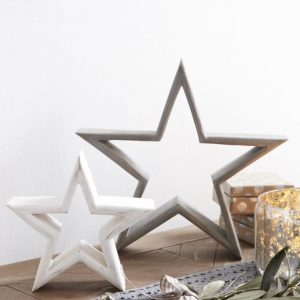 White & Grey Mantlepiece Stars