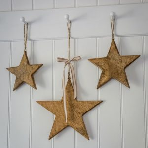 Natural Wood Stars Hanging Decoration