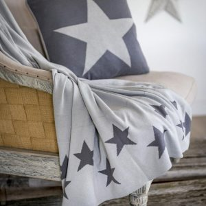 Hand Knit Star Throw