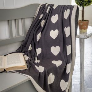 Luxury Heart Throw