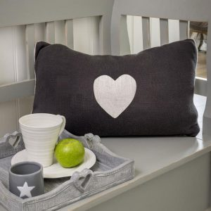 Knitted Heart Cushion